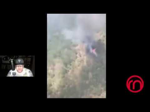 [VIDEO] 6 muertos al caer helicóptero de la Marina