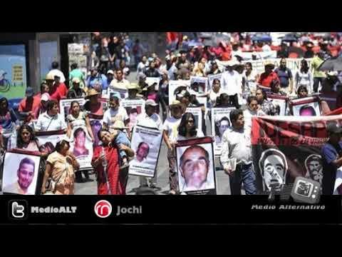 Mexicanos plantón por víctimas de desaparición forzada