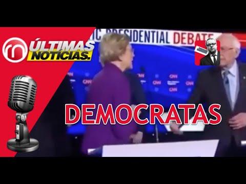 Elizabeth Warren se niega a estrechar la mano de Bernie Sanders