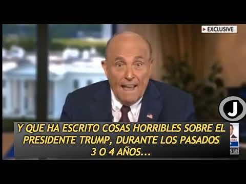 Rudy Giuliani habla sobre el problemilla que tenemos en EEUU